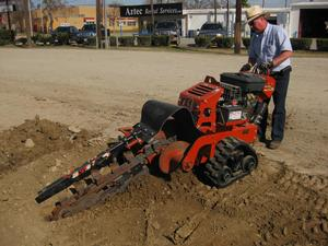 Ditch Witch Walk Behind Trencher Aztec Rental Services